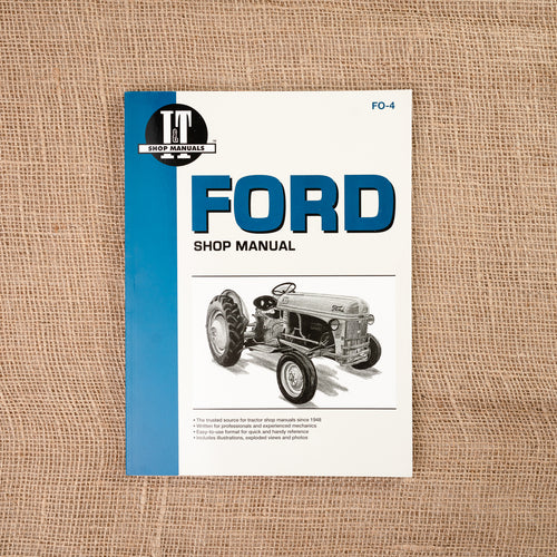 Ford Shop Service Manual, 8N, 9N, 2N