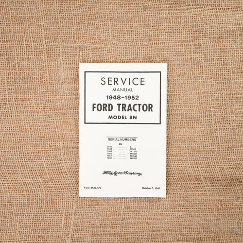Ford 8N Service Manual