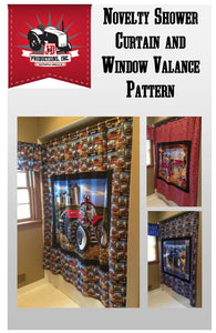 Shower Curtain and Window Valance Pattern
