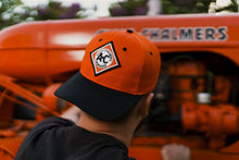Load image into Gallery viewer, Allis Chalmers Hat, vintage logo, orange and black