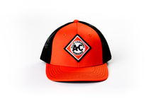 Load image into Gallery viewer, Vintage Allis Chalmers Logo Hat, Fitted, Orange with Black Mesh