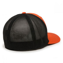 Load image into Gallery viewer, New Allis Chalmers Logo Hat, Fitted, Orange with Black Mesh