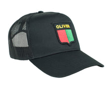 Load image into Gallery viewer, Vintage Oliver Trucker Cap, black mesh