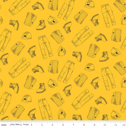 CAT Garb Fabric, Yellow