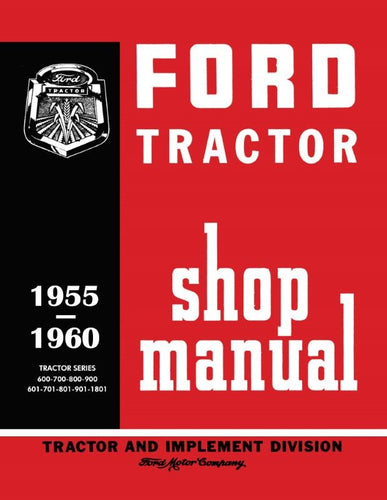 Ford Shop Manual (1955-1960 Tractors)