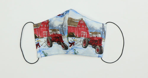 IH Farmall Snow Scene Face Mask