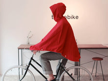 Load image into Gallery viewer, Otto London Urban Poncho Vibrant Red