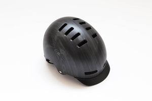 Lazer Street+ Deluxe Helmet with Visor Dark Wood