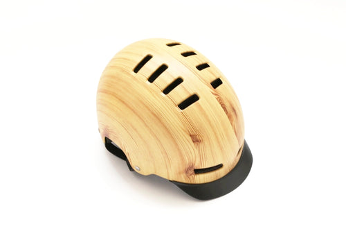 Lazer Street+ Deluxe Helmet with Visor Wood