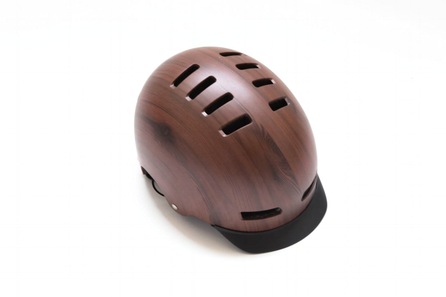 Lazer Street+ Deluxe Helmet with Visor Brown Wood