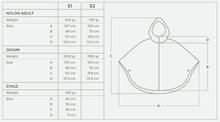 Load image into Gallery viewer, Otto London Urban Poncho Size Guide