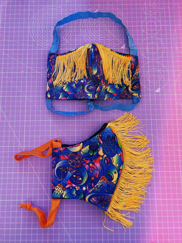 Double Layer Face Fringed Mask - 2020 ZW PRINTS *8 Prints