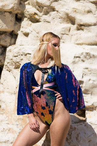 HESTIA Sequin Cape
