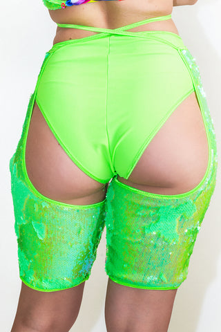 Neon Flip Sequin Midi Chaps *4 Colours