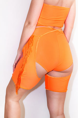 Neon Fringed Mini Chaps *4 Colours