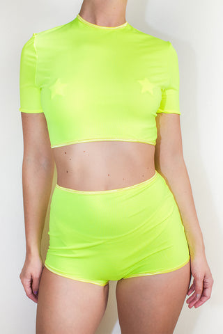 Neon Cropped Bikini Top *4 Colours
