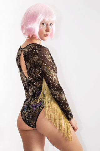 Space Raver Fringed Sleeved Bodysuit *4 Print Combos