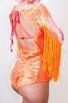 Neon Flip Sequin Fringed Bodysuit *4 Colours