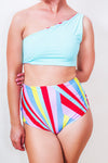 Reversible High Waist Rainbow Pride Bikini Bottom ♻ *5 Prints