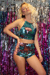 COSMOS Flip Sequin Hotpants