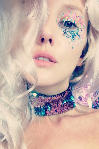 LUNA Flip Sequin Choker *All Sequin Colours