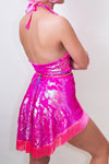 Neon Flip Sequin Fringed Wrap Skirt *4 Colours