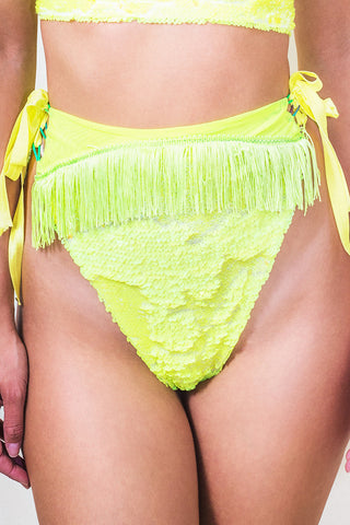 Neon Flip Sequin Fringed High Rise Knicker *4 Colours