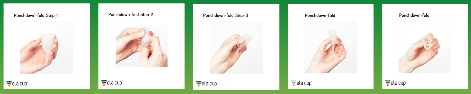 menstrual cup punchdown fold steps sustainable period happy period green menstruation menstrualmatters period care box subscription box