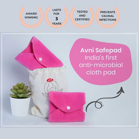 Avni Safepad - Reusable Cloth Pad - The Pink Box
