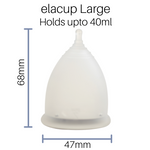 elacup®️ Kit - Menstrual Cup, Container and Pouch
