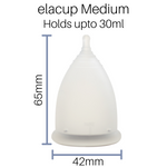 elacup®️ Kit - Menstrual Cup, Container and Pouch - The Pink Box