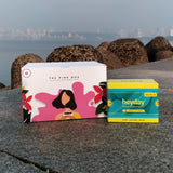 Get the perfect, eco-conscious period subscription kit with biodegradable pads like Heyday Maxi Fluff and Heyday Ultra Thin. Menstrual cups by PeeSafe, Ela, Sirona, DivaCup, Boondh and more are yet to come!