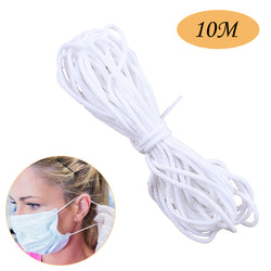 Braided Elastic Cord for Mask Mask with Nose Wire Bent Handmade Mask Elastic Line 10/20/30/50/100M