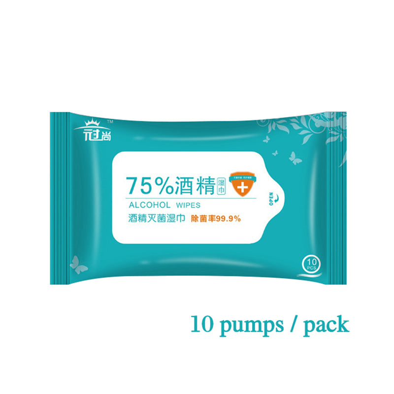 75% Alcohol Cleaning Wipes Travel Safe Cleaning Disinfecting Wipe Bacteriostatic Wipes Healthcare Cleaning Wipes 10 PCS