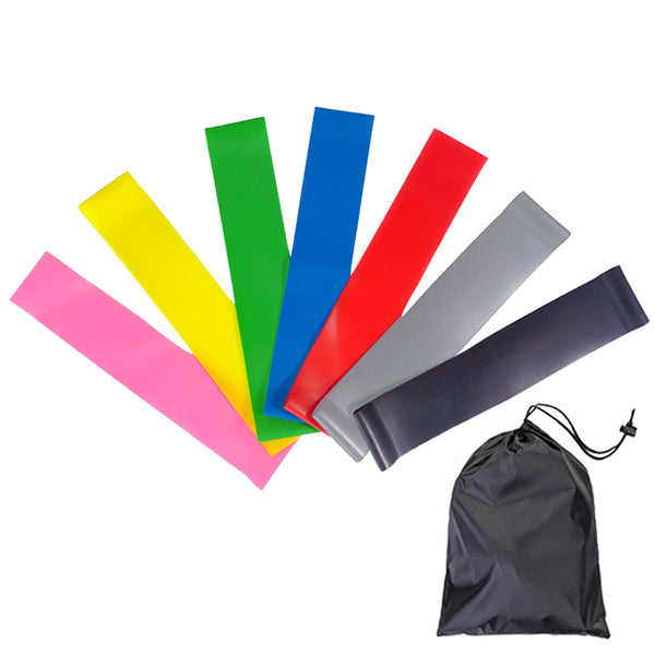 Resistance Warmup Exercise Loop Bands Advanced Latex Hip Circle Band Home Gym Dynamic Glute Activation 7 Colors 7pcs