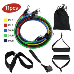11PCS Resistance Bands Sport Fitness Rubber Tubes Bands Yoga Exercise Stretch Training Home Gyms Elastic Pull Strap