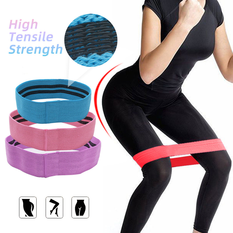 Hip Hoop Workout Resistance Latex Exercise Circle Bands Home Gym Fitness Toning Stretch Hoops 1pc