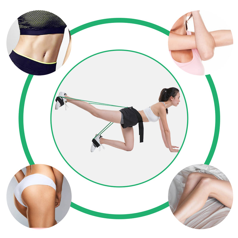 Fitness Elastic Bands Set Resistance Bands For Butt Leg Muscle Training Waist Belts Exerciser