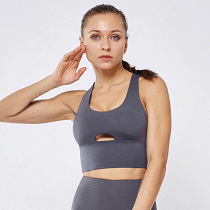 Sexy Mesh Breathable Sports Bra