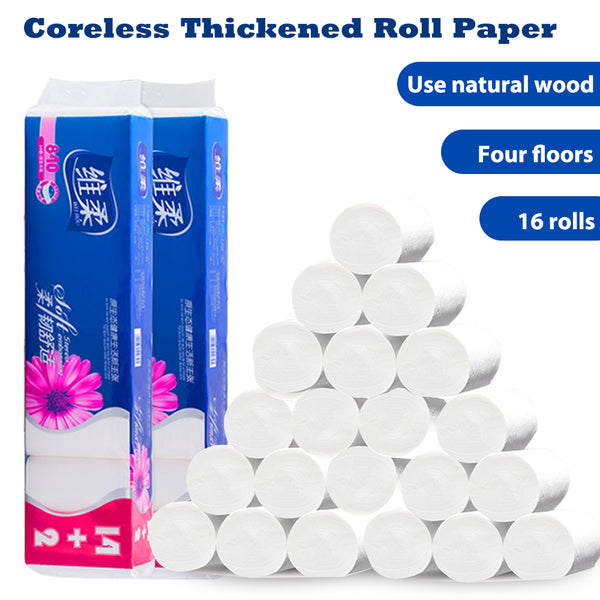 16 Rolls Paper Towels for household, Soft & Strong Kitchen Paper Towels, White