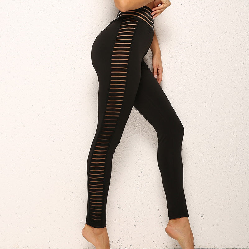 Ladies Hollow Yoga Pants