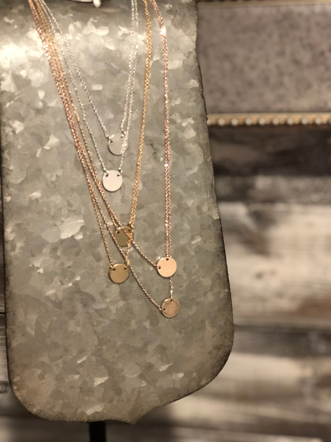 Two-Layer Coin Necklace