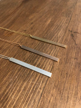 Load image into Gallery viewer, Long Brushed Metal Necklace