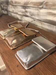 Metallic Long Crossbody