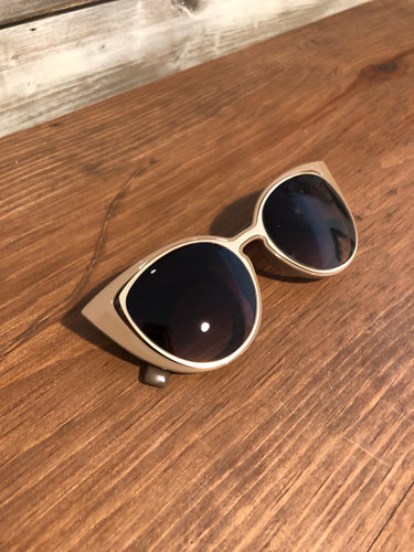 Cat Eye Sunglasses w/ Natural Detail