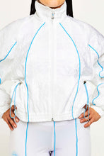 Load image into Gallery viewer, REFLECTIVE PIPED DRAWSTRING POCKET TRACK TOP