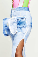 Load image into Gallery viewer, ACID WASH DENIM SIDE ZIP JEANS