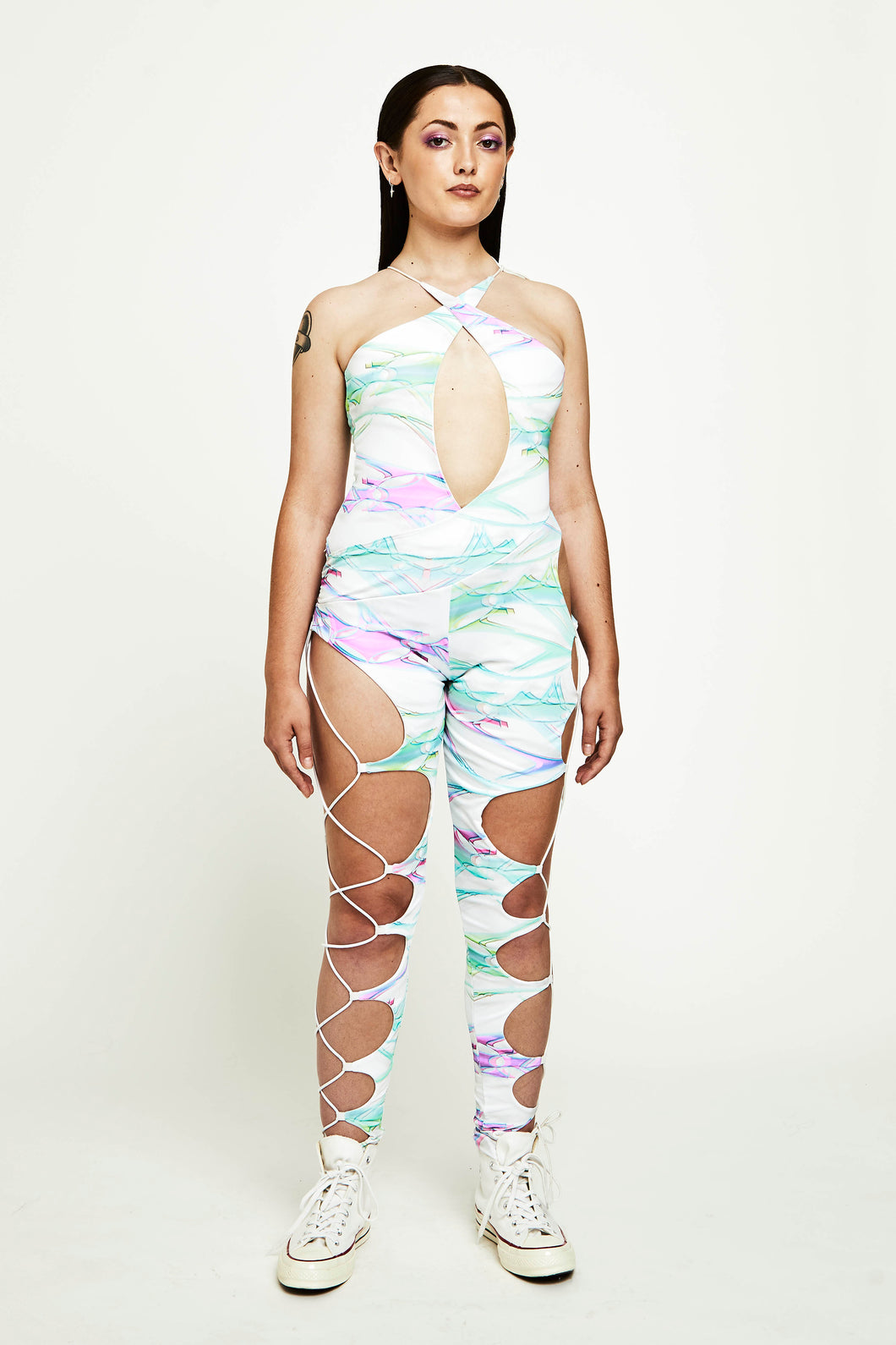 CUT OUT CORDED UNITARD