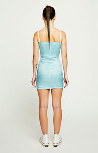 CORD FRONT BUSTIER MINI DRESS