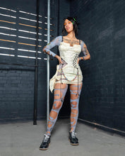 Load image into Gallery viewer, CRINKLE TAFFETA BUSTIER MINI DRESS WITH CUT OUT SIDES